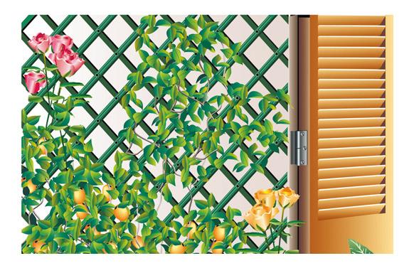 Celosia extensible plastico trelliflex 1x2 m verde