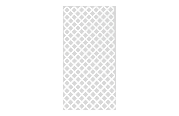 Panel decorativo privat 1 x 2 mt blanco