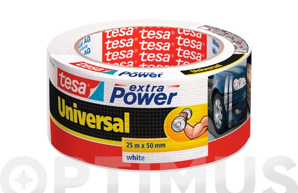 Cinta americana extra power blanco 25 m x 50 mm