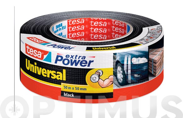 Cinta americana extra power negro 50 m x 50 mm