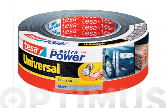 Cinta americana extra power plata 50 m x 50 mm