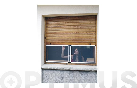 Mosquitera extensible fibra vidrio 50x70-132.bronce