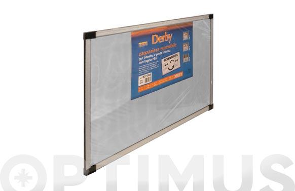 Mosquitera extensible fibra vidrio 40x50-092. bronce