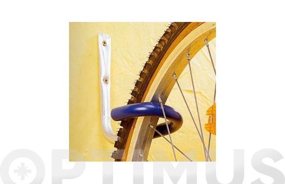 Gancho bicicleta pared o techo forrado
