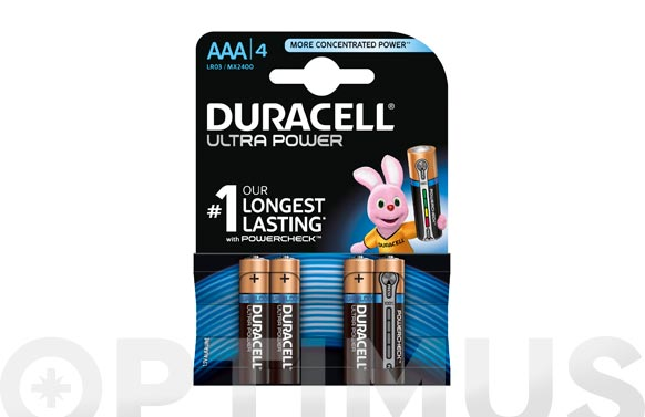 Pila alcalina ultra power aaa bl.4