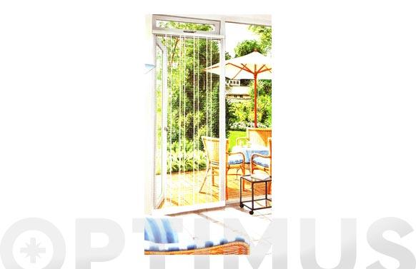 Cortina mosquitera para puertas 220 x 95 cm blanco