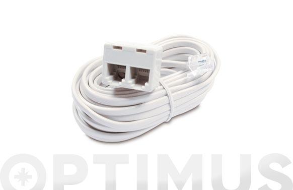 Conexion telefonia rj 11 con adaptador doble tl-047-e/7m