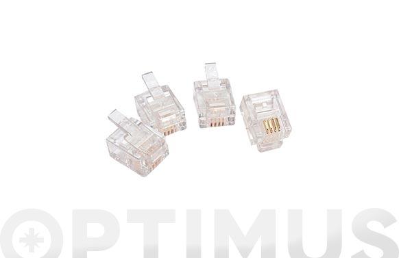 Conector modular telefono rj 11 tl-081-e/10u
