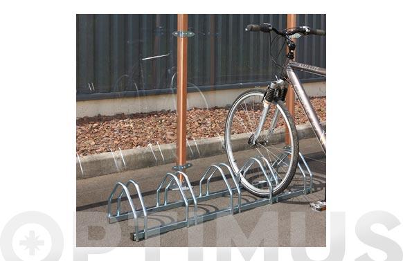 Soporte suelo 5 bicicletas 132 x 33 x 25 cm
