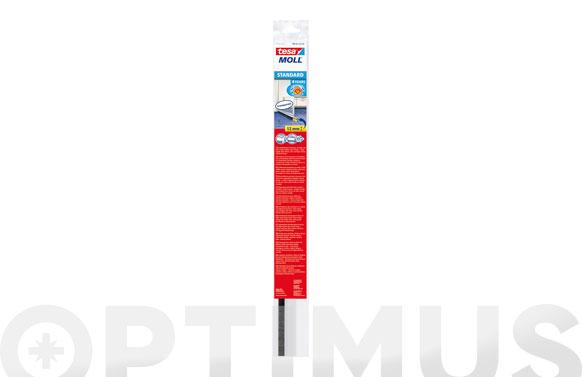 Burlete bajo puerta pvc con cepillo adhesivo 1m x 37mm beige tesamoll