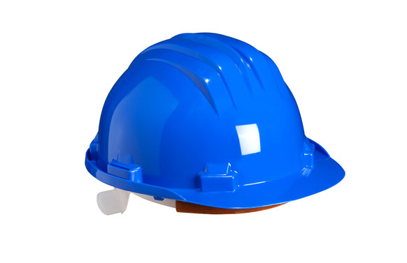Casco albañil homologado 5-rs azul