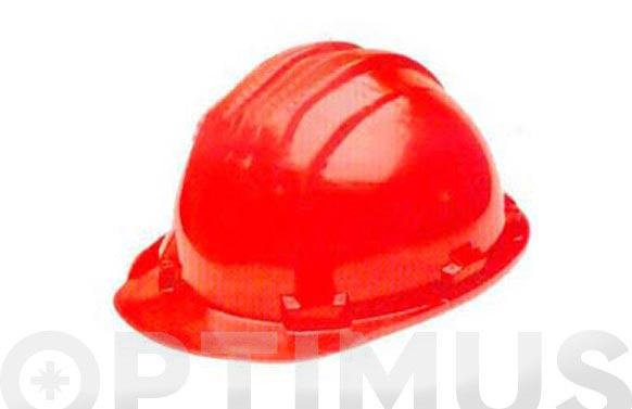 Casco albañil homologado 5-rs rojo
