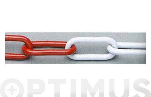 Cadena señalizacion plastico blanca/roja 8.0 mm