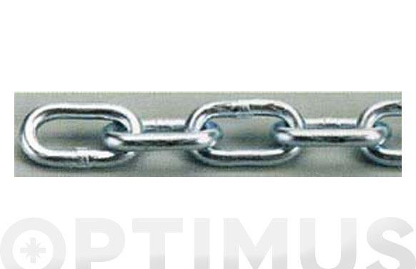 Cadena ovalada cincada en bobina 2.7 mm