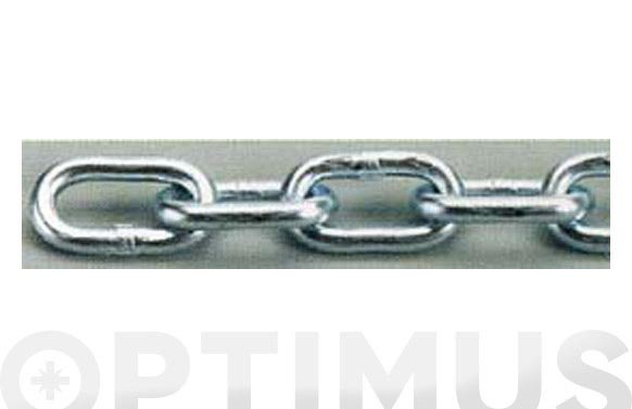 Cadena ovalada cincada en bobina 5.0 mm