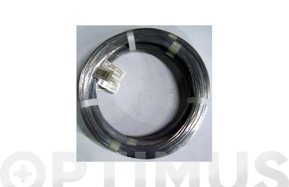 Alambre galvanizado en rollo 1 kg n.15/2,4 mm