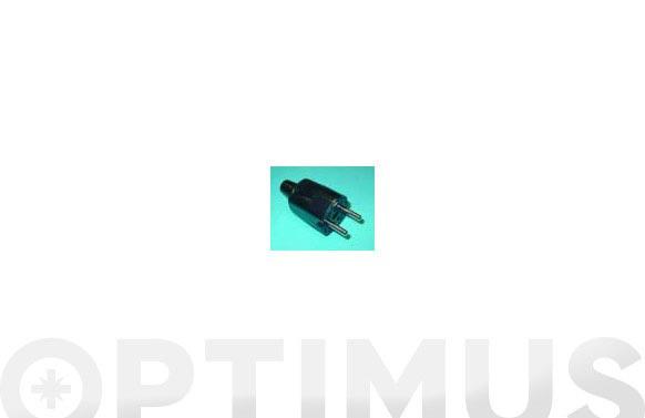 Clavija bip pvc 10/16a 250v c/tt-negra