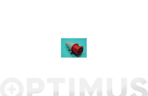 Clavija cetac aerea 3p + t 32a 400v-gris/rojo