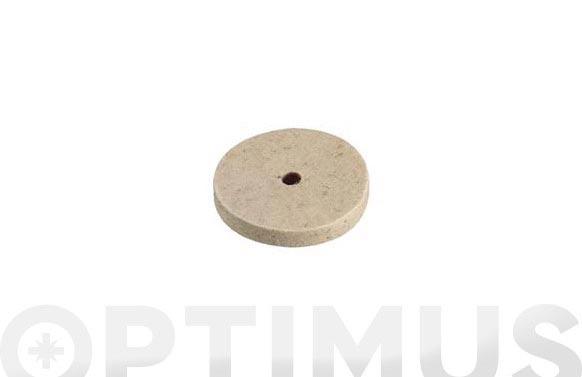Disco fieltro pulidor ø 75 mm x 10 mm