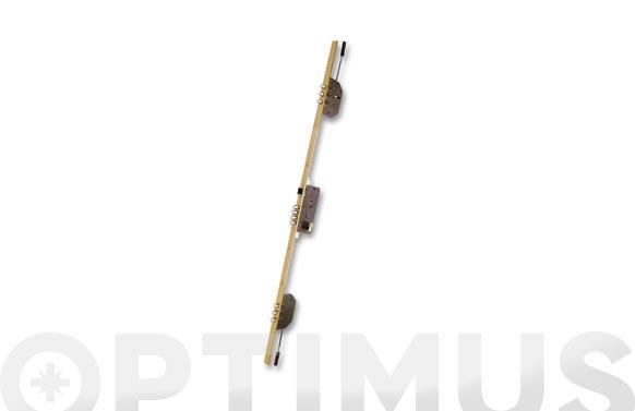 Cerradura seguridad embutir 3 puntos 2000b-3/50-ds15/70d corto esmaltado oro