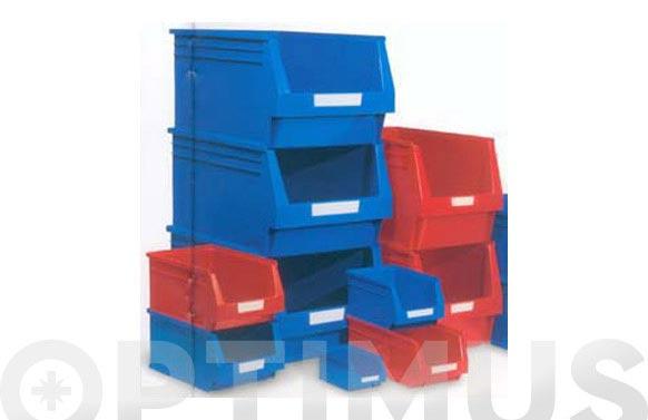 Gaveta apilable plastico n 55 azul 336 x 216 x 200 mm
