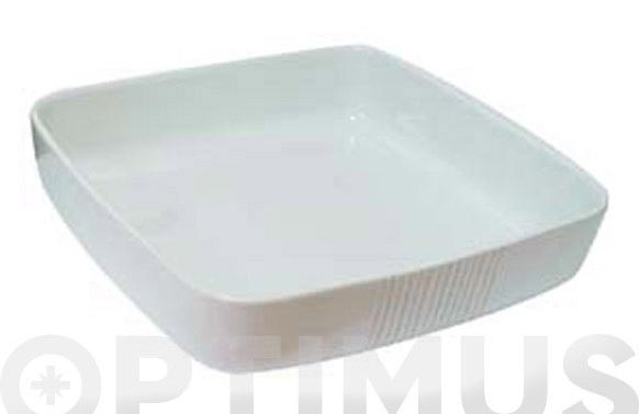 Bandeja ceramica blanca 25 x 25 cm