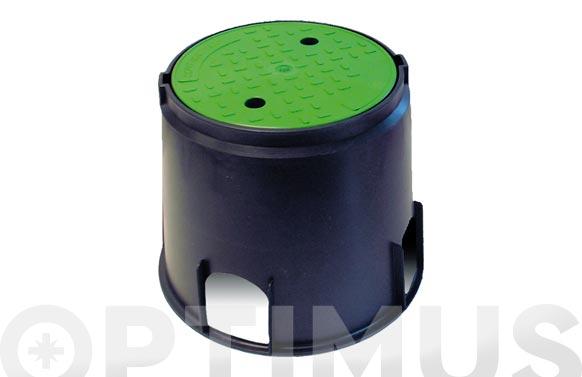 Arqueta circular para 2 electrovalvulas ø 25 x 30 cm.
