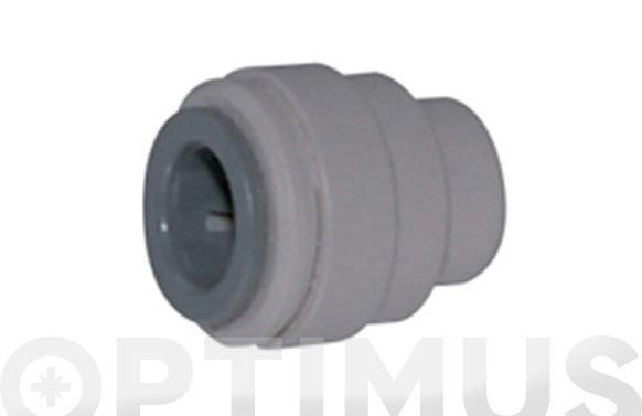 Tapon final 16 mm aqua center 10 uds