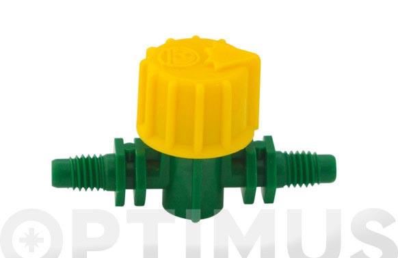 Valvula cierre 4 mm aquacenter 2 uds