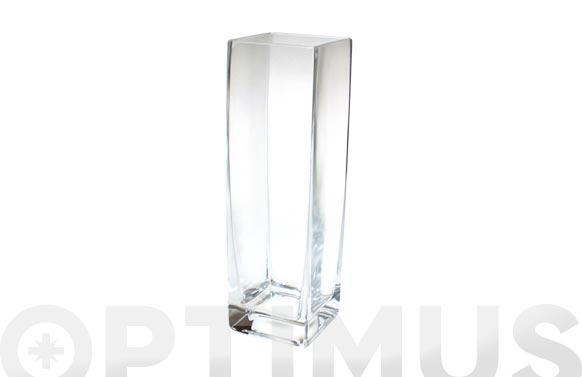Jarron cuadrado vidrio 17-1096/26.5