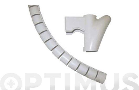 Recogedor de cables easy cover 1.5 m- 15 mm gris