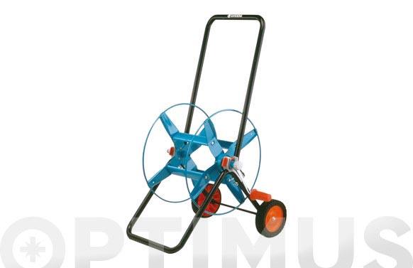 Carro portamanguera metalico 60 para 60mt de manguera