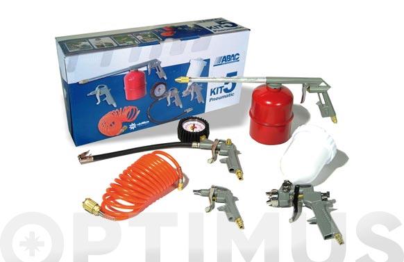 Pistola kit 5 piezas abac kit-5