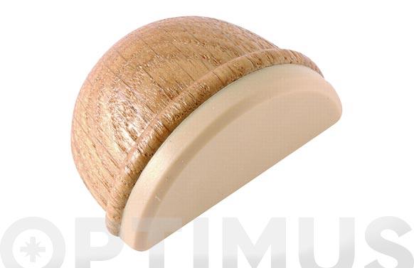 Tope de puerta adhesivo ovalado madera roble