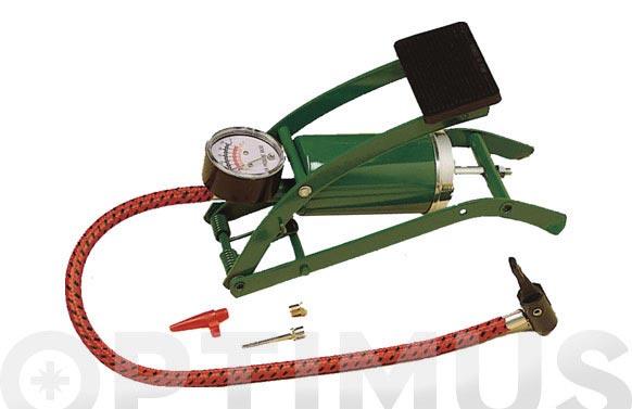 Bomba inflado de simple piston a pedal incluye boquilas