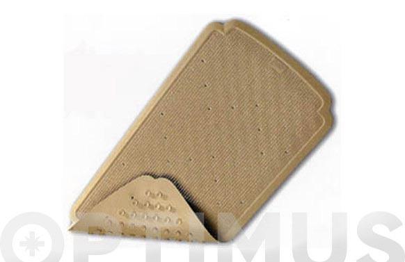 Alfombra baño caucho real 97x36 beige