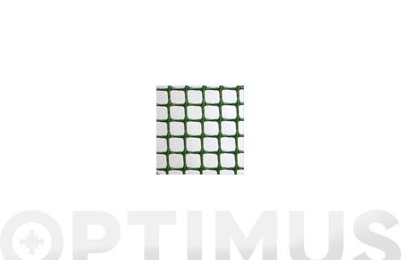 Malla cuadranet premium (malla 11x11mm) 400gr/m2 1x25 verde