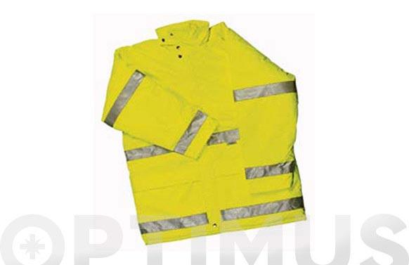 Parka alta visibilidad amarilla reflectante t/xxl