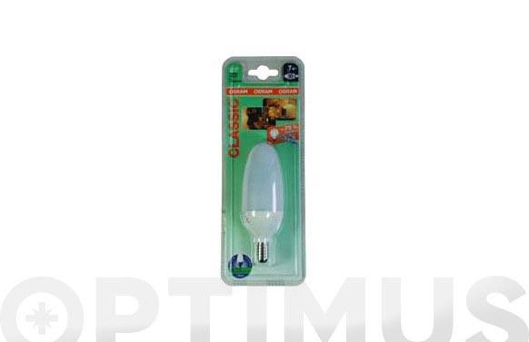 Bombilla bajo consumo dulux eco class b e14- 7 w-827