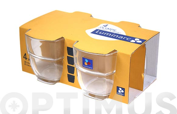 Vaso apilable olympie pack 4 uds 20 cl