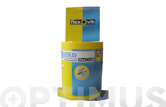 Papel vibrator bc2 rollo 25 metros grano 150 120 mm