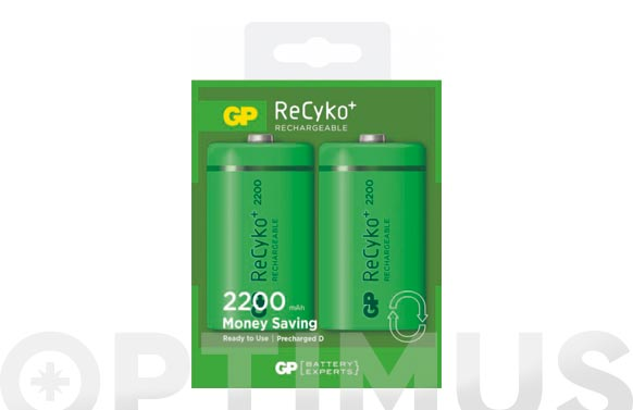 Pila recargable recyko (bl.2) r20 2200mah