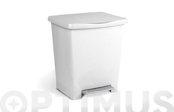 Cubo c/pedal25l milenium blanco
