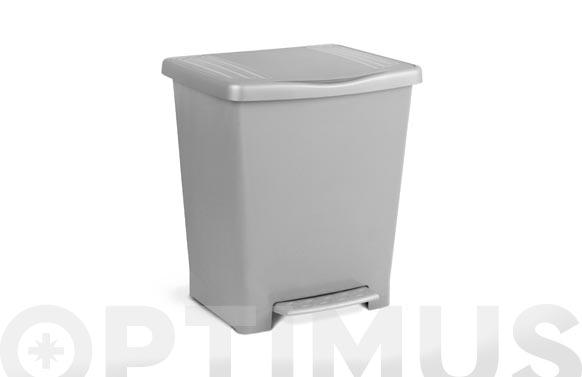 Cubo con pedal milenium 23 l gris 33 x 28 x 39 cm