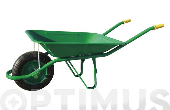 Carretilla metalica verde c1/650-60 l rueda neumatica