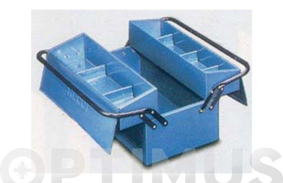 Caja herramientas metal azul 2 compartimientos 485 x 245 x 230 mm