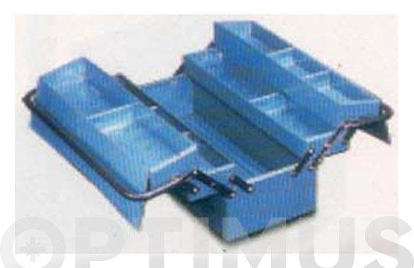 Caja herramientas metal azul 4 compartimientos 530 x 205 x 210 mm