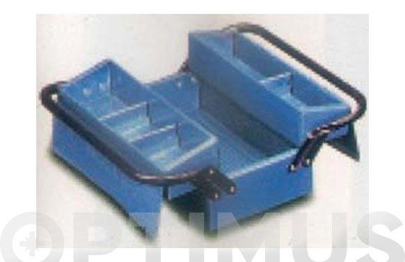 Caja herramientas metal azul 2 compartimientos 330 x 175 x 140 mm