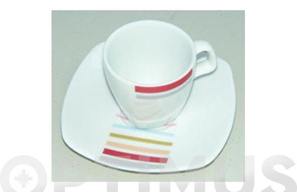 Taza cafe porcelana juego 6 unidades lotto timer2