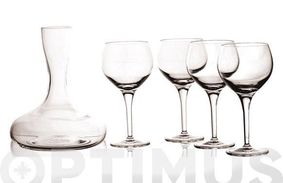 Decantador + 4 copas vino